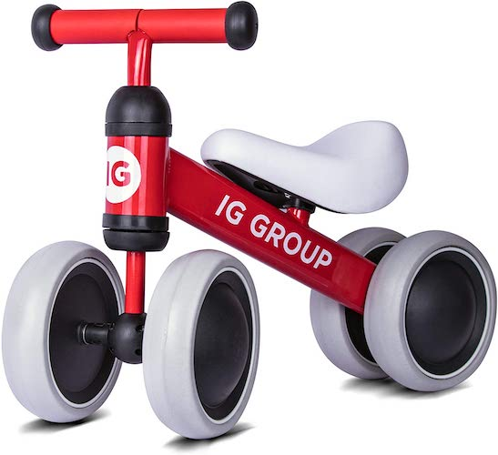 9. Balance Bike for Kids 1 2 3 Year Old, No Pedal Training Walking Bicycle, Unisex Toddler Bike for Boys and Girls by IG Group