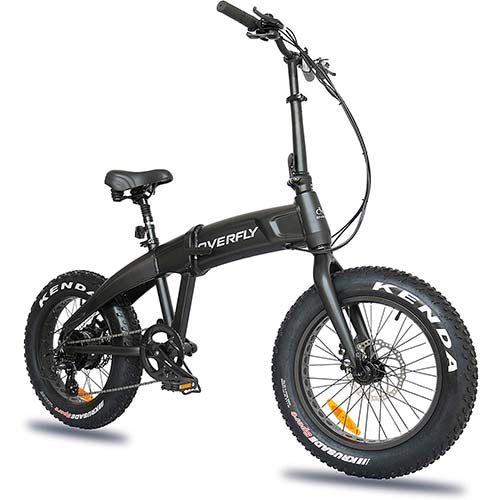 10. Overfly Folding Electric Bike 48V 500W Bafang Motor 7 Speed 10.4Ah Battery Electric Commuter Bicycle Ebike