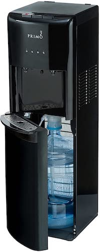 6. Primo Bottom Loading Water Cooler - 2 Temperature Settings, Hot & Cold - Energy Star Rated Water Dispenser [Black]