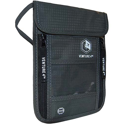 2. Travel Neck Pouch Neck Wallet with RFID Blocking