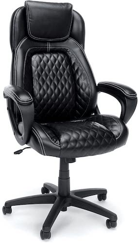 5. OFM Essentials Collection Racing Style SofThread Leather High Back Office Chair
