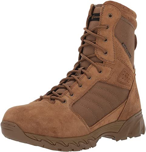 10. Smith & Wesson Men's Breach 2.0 Tactical Waterproof Side Zip Boots