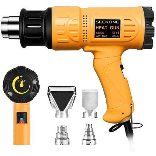 1. SEEKONE Heat Gun 1800W Heavy Duty Hot Air Gun Kit