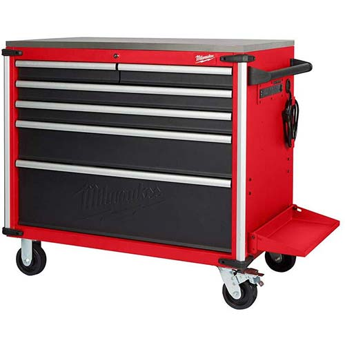 4. 40 in. W x 22.1 in. D 6-Drawer Mobile Workbench