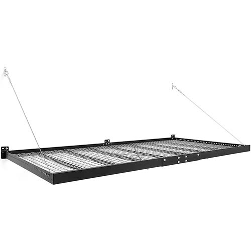 7. NewAge Products Pro Series Black 4 ft. x 8 ft. Wall Mounted Steel Shelf