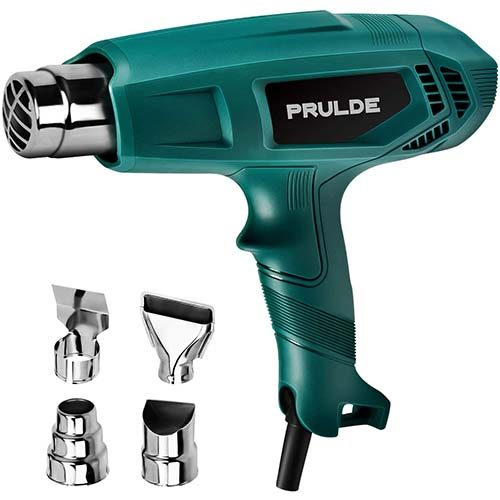 10. Heat Gun, PRULDE HG0080 Dual Temperature Hot Air Gun Kit
