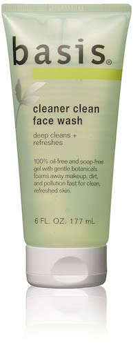 9. Basis Cleaner Clean Face Wash, 6 Fluid Ounces