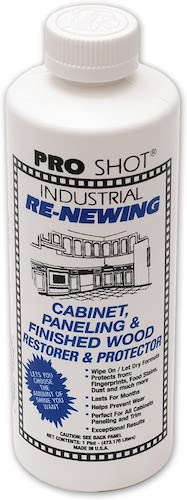 6. PRO SHOT Industrial Re-Newing Cabinet Paneling and Finished Wood Restorer and Protector