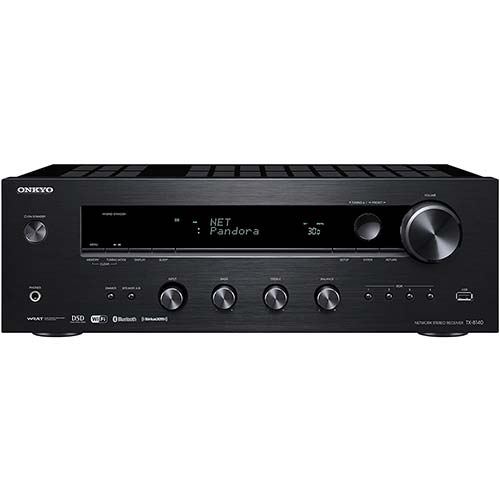 5. Onkyo TX-8140 Stereo Receiver with Built-In Wi-Fi and Bluetooth Wireless Technology, 2-Channel Network