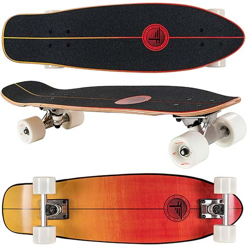 "3. Flybar Skate Cruiser Boards – 24"" – 27.5 Strong 7 Ply Canadian Maple Complete Skateboards"