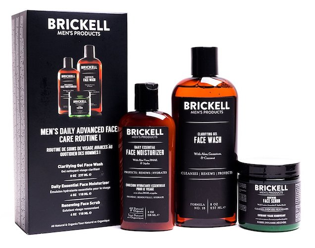 1. Brickell Men's Daily Advanced Face Care Routine I, Gel Facial Cleanser