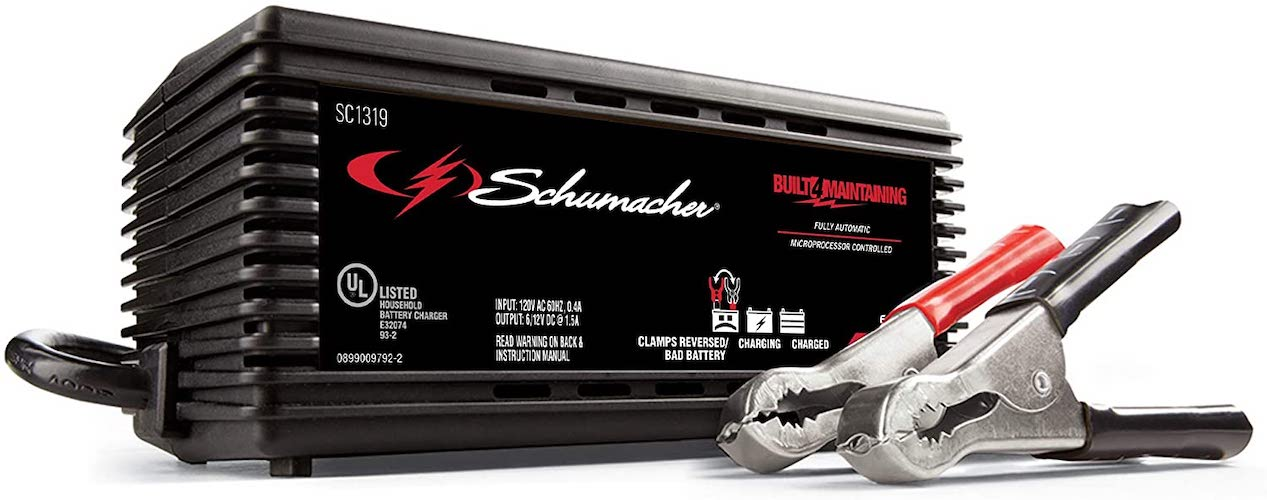 8. Schumacher SC1319 1.5A 6/12V Fully Automatic Battery Maintainer