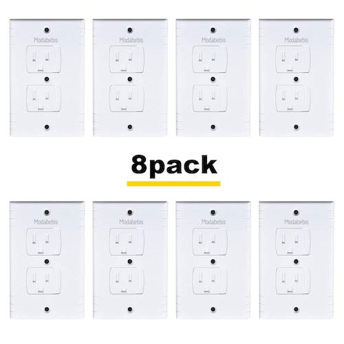 7. Universal Self-Closing Electrical Outlet Covers, Extra Safe Retardant Child Safety Guards Socket Plugs Protector, BPA Free, 8 pack