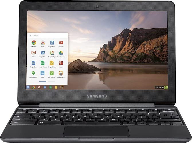 6. Samsung 11.6 Chromebook with Intel N3060 up to 2.48GHz, 4GB Memory, 16GB eMMC Flash Memory, Chrome Operating System