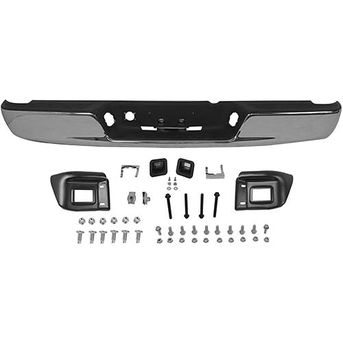2. MBI AUTO - Chrome, Steel Rear Step Bumper Assembly for 2002 2003 Dodge RAM 1500 Pickup 02-03, CH1103108