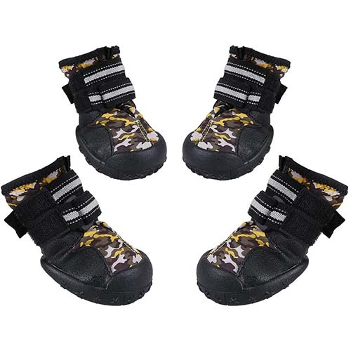 10. Magic Cindy Dog Shoes Dog Boots Anti-Slip Rain Boot Waterproof Dog Snow Shoes