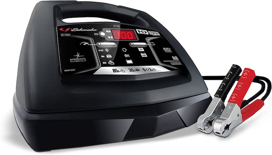 5. Schumacher SC1362 6V/12V Fully Automatic Battery Charger and 30/85A Engine Starter with Advanced Diagnostic Testing