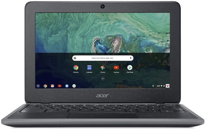 2. Acer Chromebook 11, Celeron N3350, 11.6 HD, 4GB LPDDR4, 32GB eMMC, Google Chrome, C732-C6WU