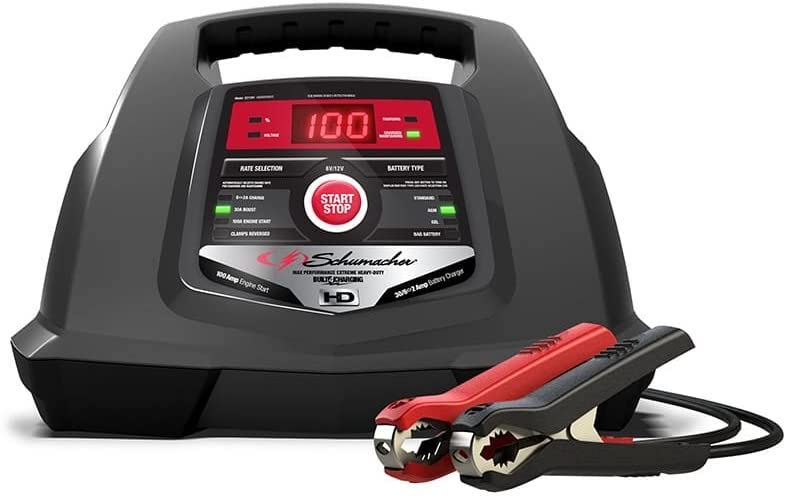 7. Schumacher SC1281 6/12V Fully Automatic Battery Charger and 30/100A Engine Starter with Advanced Diagnostic Testing