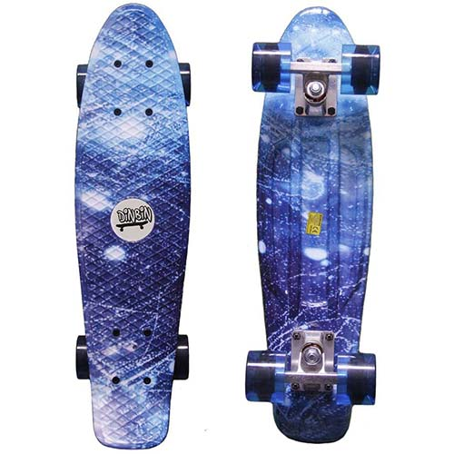 5. DINBIN Complete Highly Flexible Plastic Cruiser Board Mini 22 Inch Skateboards