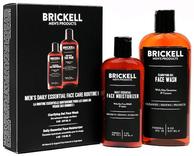 5. Brickell Men's Daily Essential Face Care Routine I, Gel Facial Cleanser Wash and Face Moisturizer Lotion