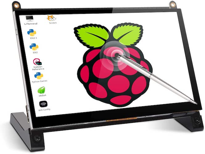 3. Touchscreen Monitor, 7 Inch Portable USB Monitor Raspberry Pi Touch Screen IPS Display Computer Monitor 1024X600 16:9 HDMI Game Monitor