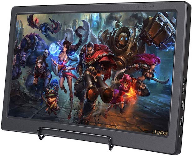 9. SunFounder Raspberry Pi Display 13.3 Inch IPS Portable 2 HDMI Monitor 1920x1080 Gaming Monitor