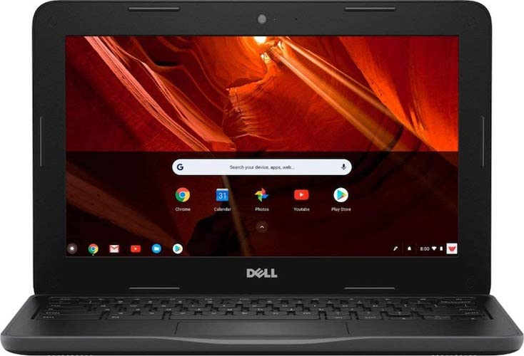 8. Dell 11.6 HD (1366 X 768) Energy-Efficient LED Backlight Chromebook | Intel Celeron Dual-Core Chrome OS