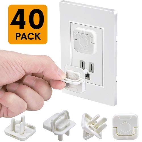 10. Outlet Covers Baby Proofing Socket Protectors Child Safety Plug Caps Difficult for Toddler to Remove, 40 Pack