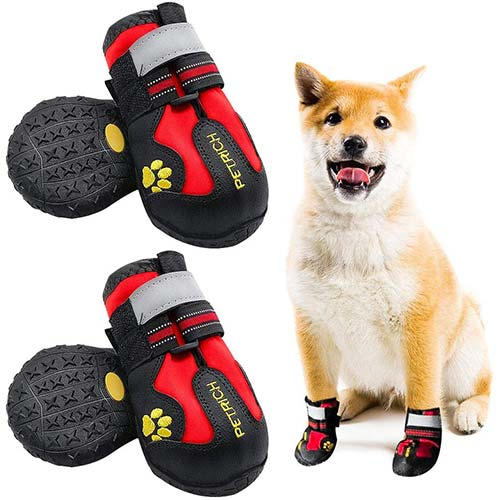 8. LLNstore Dog Shoes Dog Snow Boots Rain Boots for Medium Large Dogs