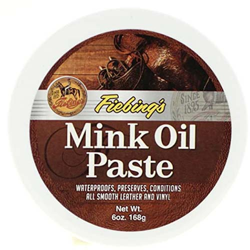 4. Fiebings Mink Oil Paste for Smooth Leather And Vinyl Condition And Protect