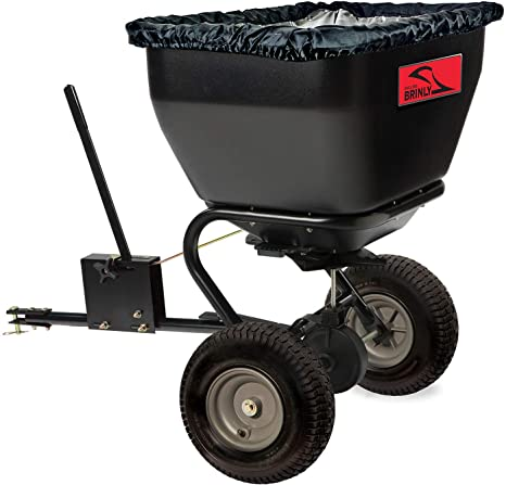 9. Brinly BS36BH, 75 lb, Black Tow-Behind Broadcast Spreader