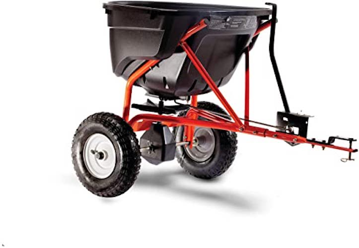 10. Agri-Fab 45-0463 130-Pound Tow Behind Broadcast Spreader