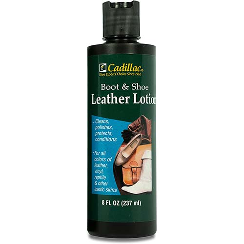 2. Cadillac Boot and Shoe Leather Conditioner and Cleaner Lotion 8 oz - Conditions, Cleans, Polishes & Protects All Colors of Leather
