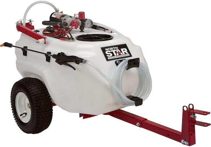 6. NorthStar Tow-Behind Trailer Boom Broadcast and Spot Sprayer