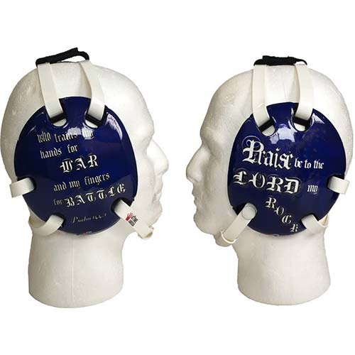 7. 4 Time All American Psalm 144 Blue Wrestling Headgear