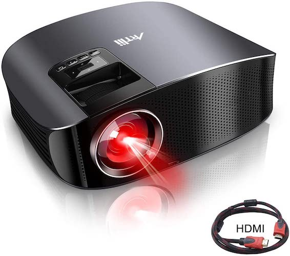 7. Movie Projector - Artlii 5500 LUX Full HD 1080P Support Projector, LED Projector with HiFi Stereo, Home Theater Projector
