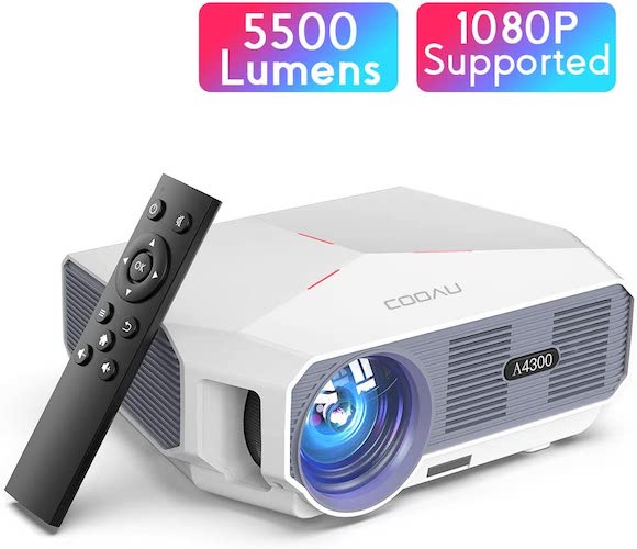 7.Projector, COOAU 5500 Lumens Home Video Projector, Support 1080P and 200