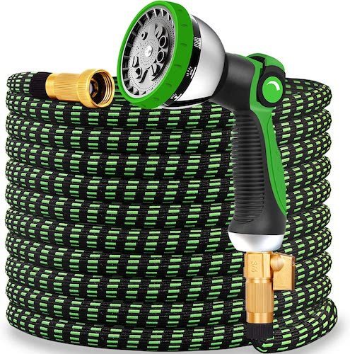10.Expandable Garden Hose 2020 Updated Expanding Water Hose with 10 Function Water Spray Nozzle Lightweight Durable Flexible Watering Hoses