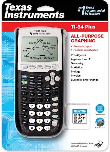 6. Texas Instruments TI-84 Plus Graphics Calculator