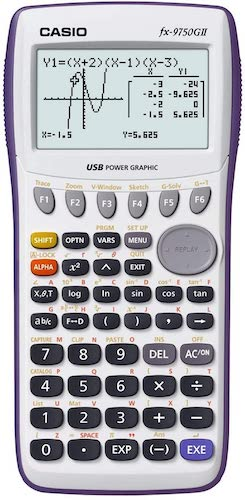 9. Casio fx-9750GII Graphing Calculator, Icon Based Menu