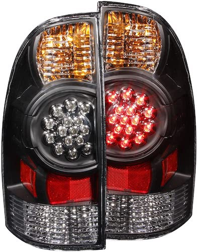 2. Anzo USA 311042 Toyota Tacoma Black LED Tail Light Assembly - (Sold in Pairs)