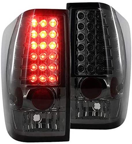 10. Spec-D Tuning LT-TIT04GLED-TM Nissan Titan xe se le Smoke Crystal Led Tail Lights Pair