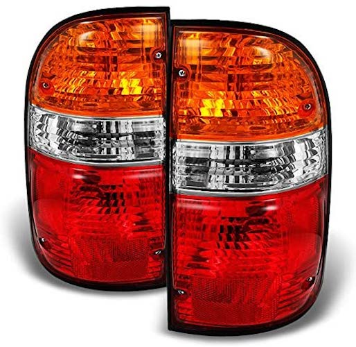 4. For Toyota Tacoma Truck Red Amber Tail Lights Brake Lamps Driver Left + Passenger Right Replacement Pair
