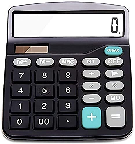 5. Everplus Calculator, Everplus Electronic Desktop Calculator with 12 Digit Large Display, Solar Battery LCD Display