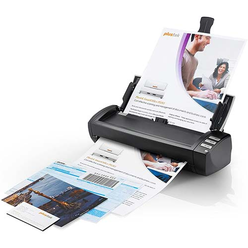 8. Plustek AD480 - Desktop Scanner for Card and Document, with 20 Page Paper Feeder and Exclusive Card Slot