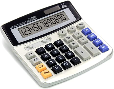 3. OFFIDIX Office Calculators Desktop Calculator,Basic Calculators, Solar Battery Dual Power Electronic Calculator