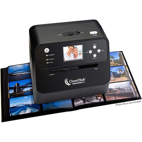6. ClearClick 14 MP QuickConvert 2.0 Photo, Slide, and Negative Scanner - Scan 4x6 Photos & 35mm, 110, 126 Film