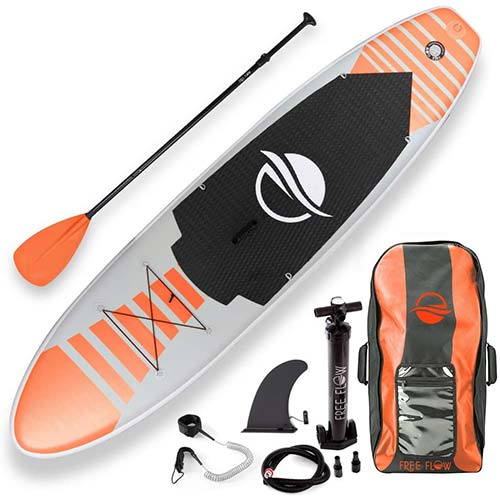 4. SereneLife Premium Inflatable Stand Up Paddle Board (6 Inches Thick) with SUP Accessories & Carry Bag