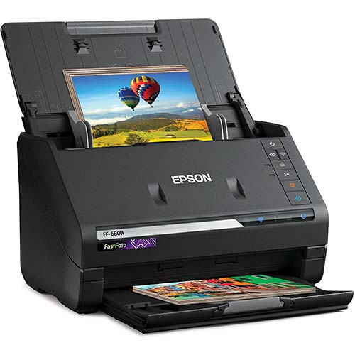 1. Epson FastFoto FF-680W Wireless High-Speed Photo and Document Scanning System, Black